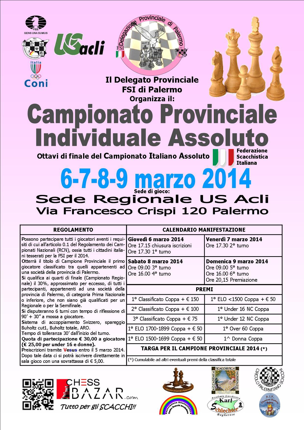 Fsi Scacchi Calendario.Centro Scacchi Palermo