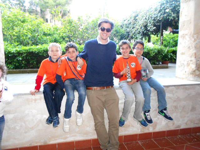 Andrea e il team CentroScacchi