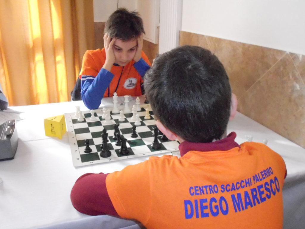 Andrea e Diego durante il loro match