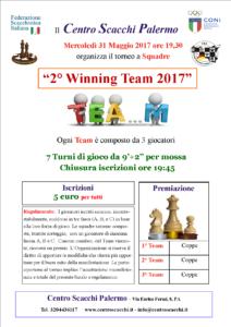 Torneo 2° Winning Team 2017
