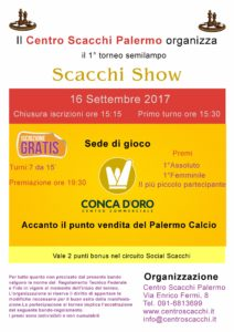 1°Torneo Scacchi Show