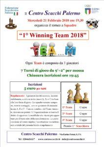 Torneo 1° Winning Team 2018