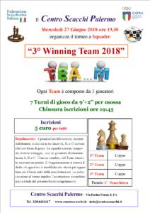 Torneo 3° Winning Team 2018