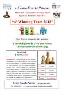 Torneo 4° Winning Team 2018